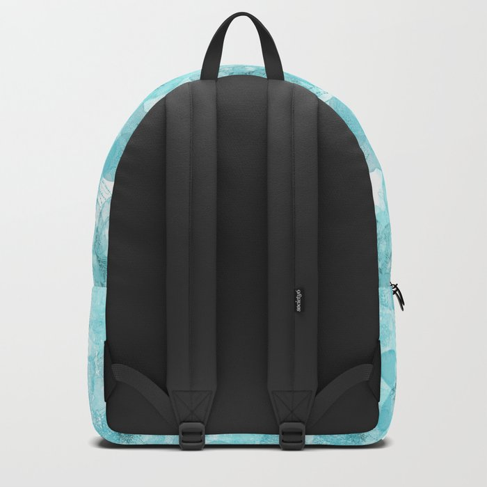 Turquoise aqua flower lace pattern on #Society6 Backpack