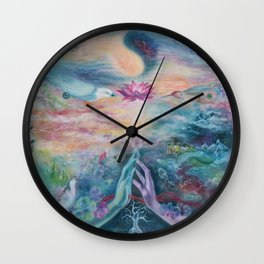 Divine Sacred Union Wall Clock