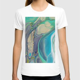 Fluid Abstract - Blue and Purple T-shirt