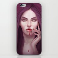 blood iPhone & iPod Skins featuring blood by melazerg