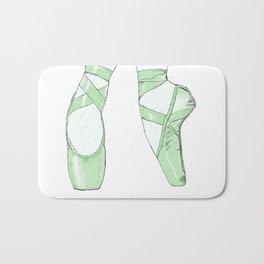 Ballet Pumps: Green Bath Mat