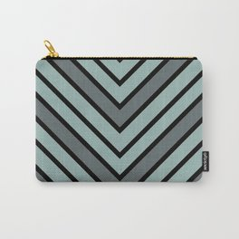 Chevron Shades of Gray & Black Carry-All Pouch