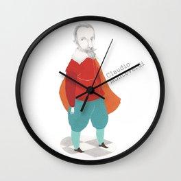 Claudio Monteverdi Wall Clock