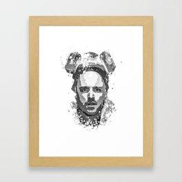 Breaking Bad, Jesse Pinkman splatter painting Framed Art Print