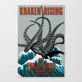 Kraken Rising Canvas Print