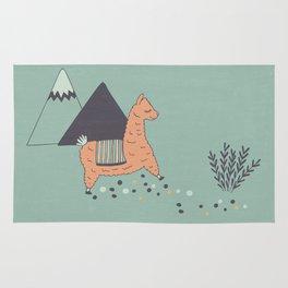 Sleep Walking Llama Rug