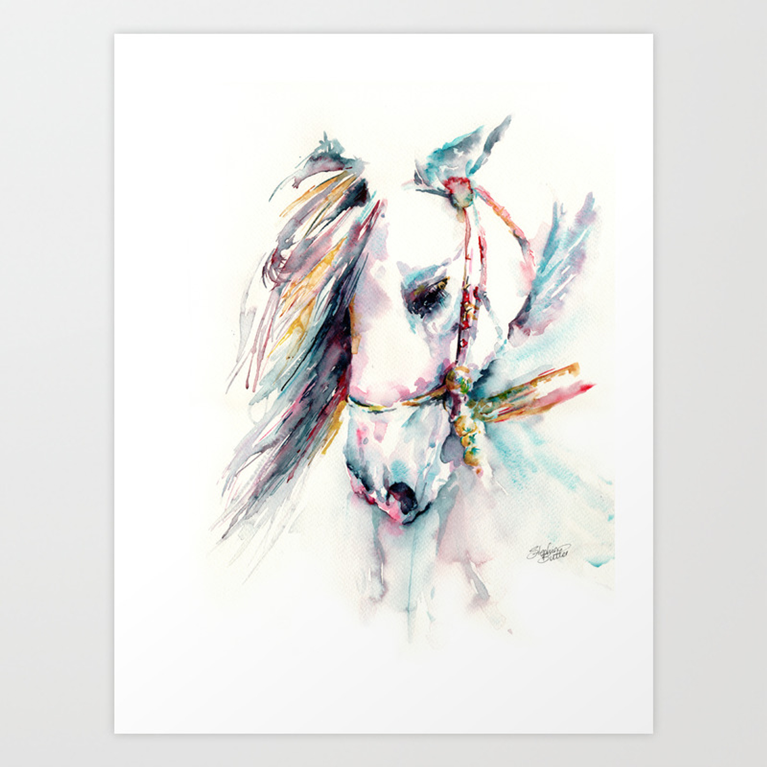 Fantasy White Horse Art Print By Stephiebutler Society6