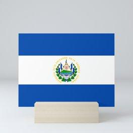 El Salvador Flag Mini Art Print