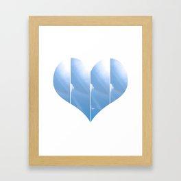 Heart in Carolina Blue Framed Art Print