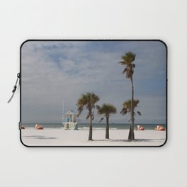 Clearwater Beach In Wintertime Laptop Sleeve