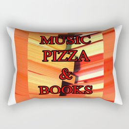 Music Pizza & Books Rectangular Pillow