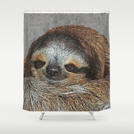 SLOTH LOVE Shower Curtain