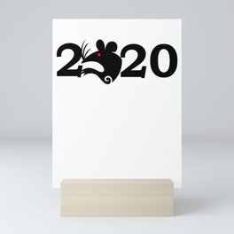 2020 Year Of The Rat Gift Design Mini Art Print