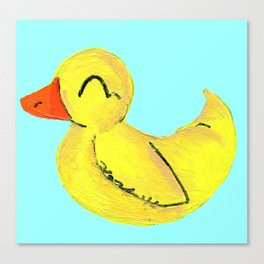 Happy Ducky Canvas Print