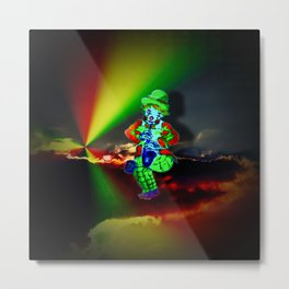 Creations in the color spectrum of the rainbow - Clown Metal Print