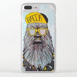 Hip Chewbacca Clear iPhone Case