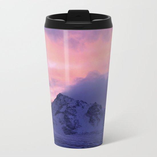 Rose Serenity Sunrise III Metal Travel Mug