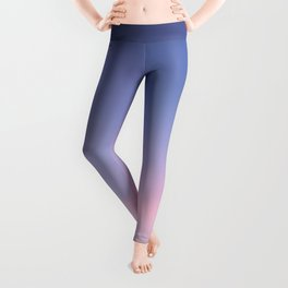 Blue evening sky with pink clouds. Photography Leggings