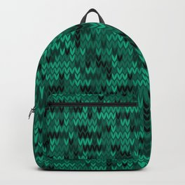 Green knitted textiles Backpack