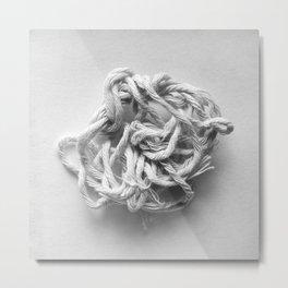 Tangled string Metal Print