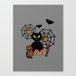 Happy Whimsical Halloween Canvas Print