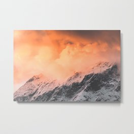 Sunset over Mount Aspiring Metal Print