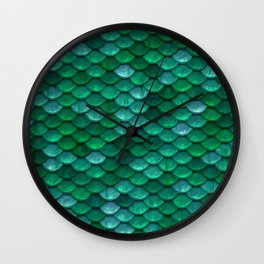 Green Penny Scales Wall Clock