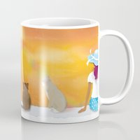 sunrise Mugs featuring Sunrise by Graphic Tabby