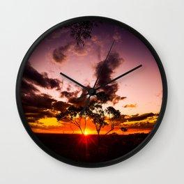 Sunset at Berowa Valley Wall Clock