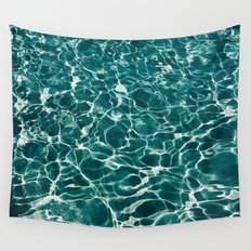 SEA - blue , white ocean , waves , clear , clarity Wall Tapestry
