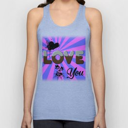 Valentine´s Day Love You Unisex Tank Top