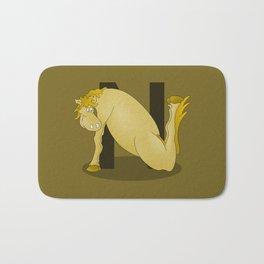 Pony Monogram Letter N Bath Mat