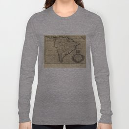 Vintage Map of South America (1700) Long Sleeve T-shirt