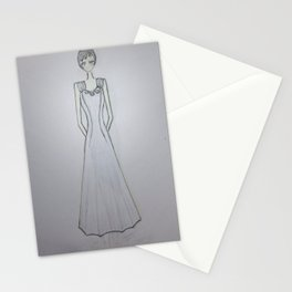 ghost noveau Stationery Cards