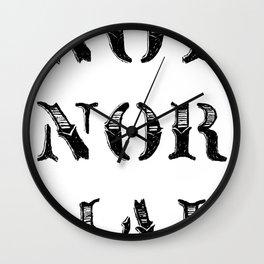 NOT NOR MAL Wall Clock