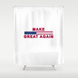 MAGA tee shirt trump supporter - Make America Great Again Shower Curtain