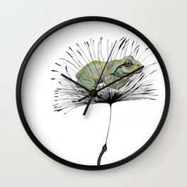Frog in Seed Wall Clock