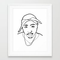tupac Framed Art Prints featuring Tupac no. 1 by Colin Douglas Gray