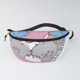 Blue Eyed Hairless Cat Fanny Pack