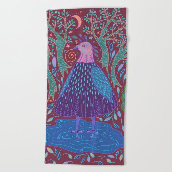 Bird Bath Beach Towel
