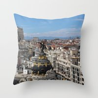 madrid Throw Pillows featuring Madrid Espana by Eduardo Doreni