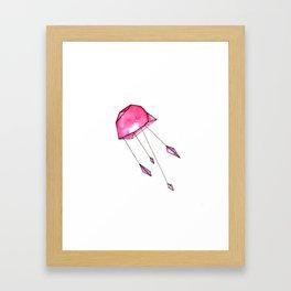 Geometric jellyfish Framed Art Print