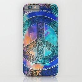 Tie-Dye Peace Mandala Neg iPhone Case