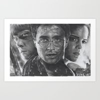 harry potter Art Prints featuring Harry Potter by fabio verolino