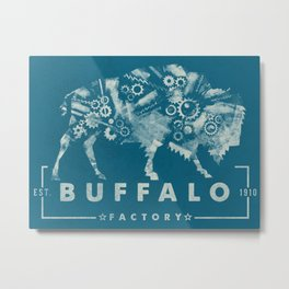 BUFFALO FACTORY GEARS #2 Metal Print