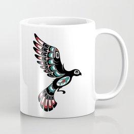 Red and Green Haida Spirit Flying Bird Coffee Mug