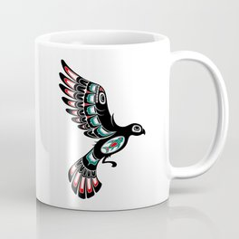Red and Green Haida Spirit Flying Bird Coffee Mug