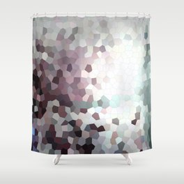 Hex Dust 1 Shower Curtain