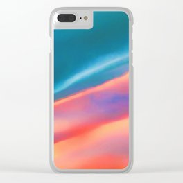 Merging #abstract #decor #society6 #buyart Clear iPhone Case