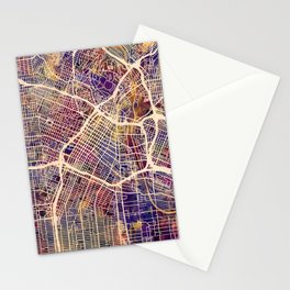 Los Angeles City Street Map Stationery Cards
